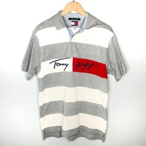 Tommy Hilfiger Large Spell Out Vintage Polo